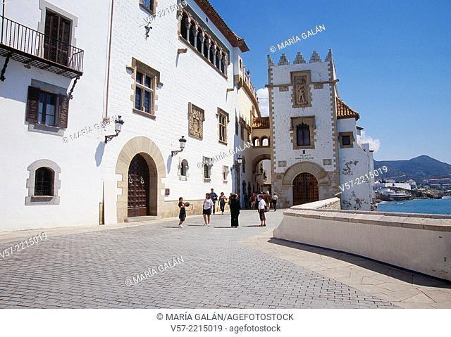 Maricel de Mar Museum. Sitges, Barcelona province, Catalonia, Spain
