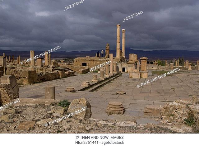 Algeria, Timgad, Forum