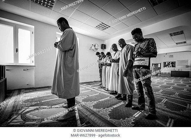 Italy, Mortara, Refugee center, local mosque
