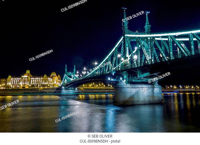 Liberty Bridge, running over River Danube, Budapest Hungary