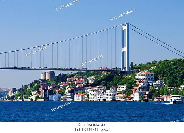 Turkey, Istanbul, Fatih Sultan Mehmet Bridge over Bosphorus