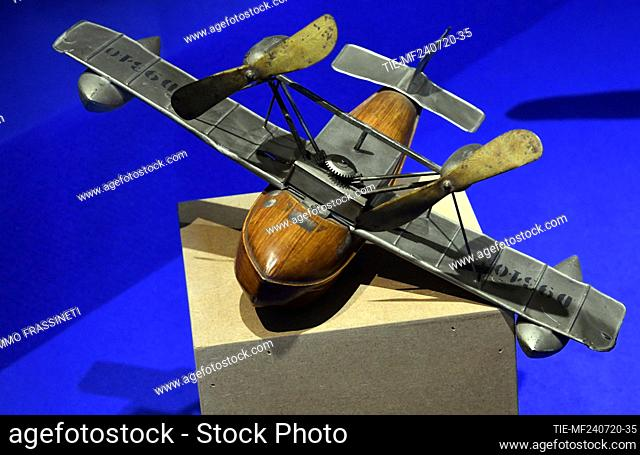 Airplane in the exhibition titled ' Per gioco' from the collection of antique toys of the Capitoline Superintendence. It presents over 700 specimens of ancient...