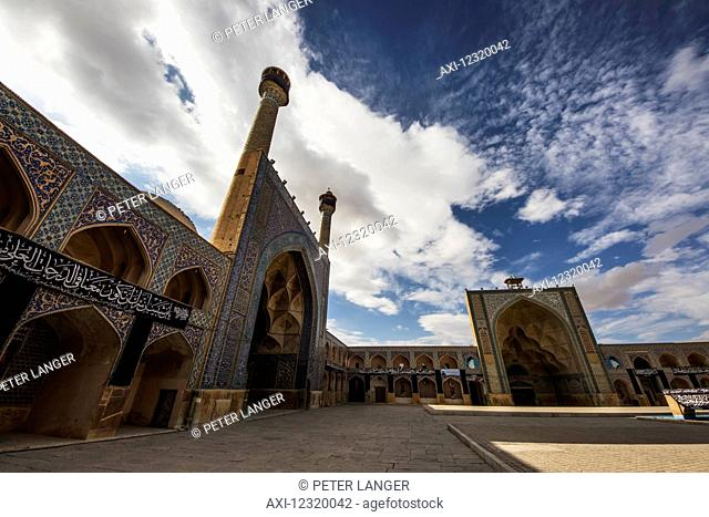Southern Iwan and Western Iwan of the Masjed-e Jame (Friday Mosque); Esfahan, Iran
