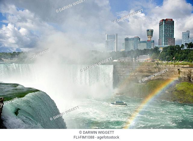 Horseshoe Falls and Maid of the Mist with Ontario Skyline, from Terrapin Point, Niagara Falls, New York, USA