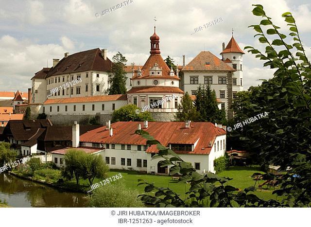 View of the castle, Jindrichuv Hradec, rondel, Neuhaus, South Bohemia, Czech Republic, Europe