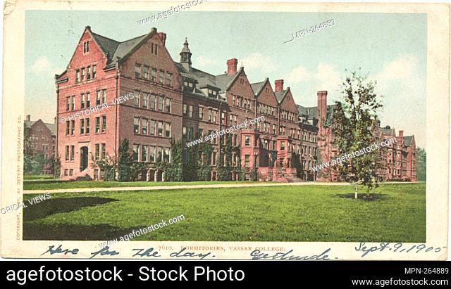 Dormitories, Vassar College, Poughkeepsie, N.Y. Detroit Publishing Company postcards 7000 Series. Date Issued: 1898 - 1931 Place: Detroit Publisher: Detroit...