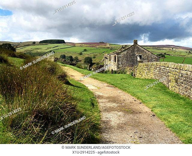 Ruined Building on the Bronte Way near Haworth West Yorkshire England