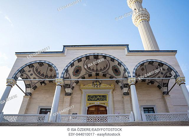 Exterior view of Center Isabey Mosque in Bursa,Turkey. 20 May 2018