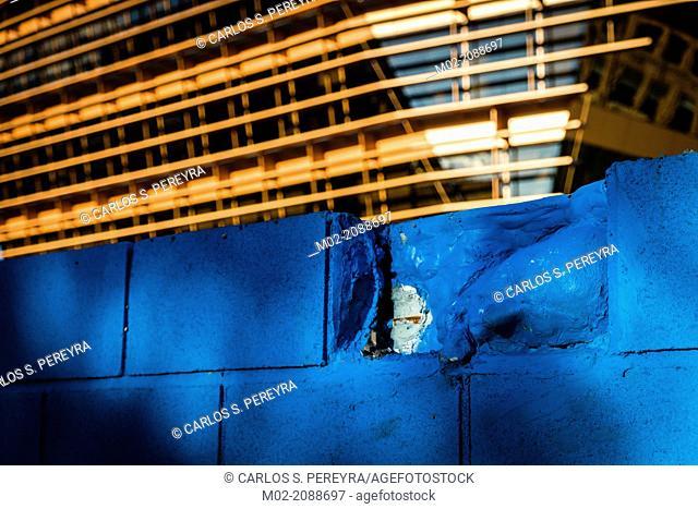 Street art and Modern architecture, 22@ business development, Poblenou, Barcelona, Catalonia, Spain