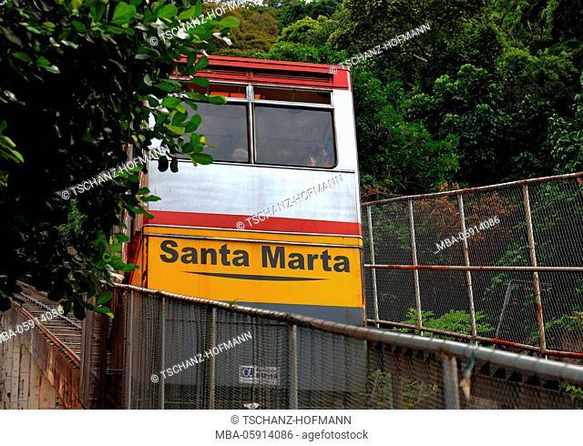Favela Santa Marta, Rio de Janeiro, Brazil, funicular railway
