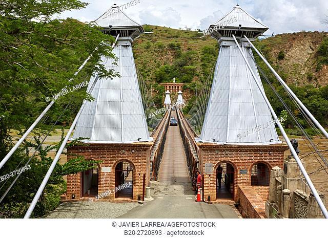 Puente de Occidente (Bridge of the West), Cauca River, Santa Fe de Antioquia, Antioquia department, Colombia