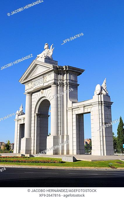 Arch of San Vicente.Madrid.Spain