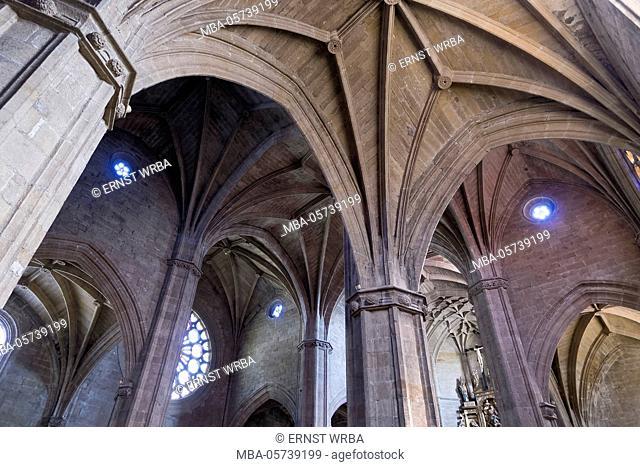 Church San Vicente, inside, Old Town, Donostia-San Sebastián, Gipuzkoa, the Basque Provinces, Spain