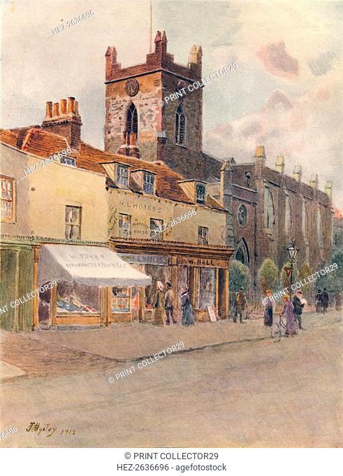 'Chertsey Church', 1912, (1914). Artist: James S Ogilvy