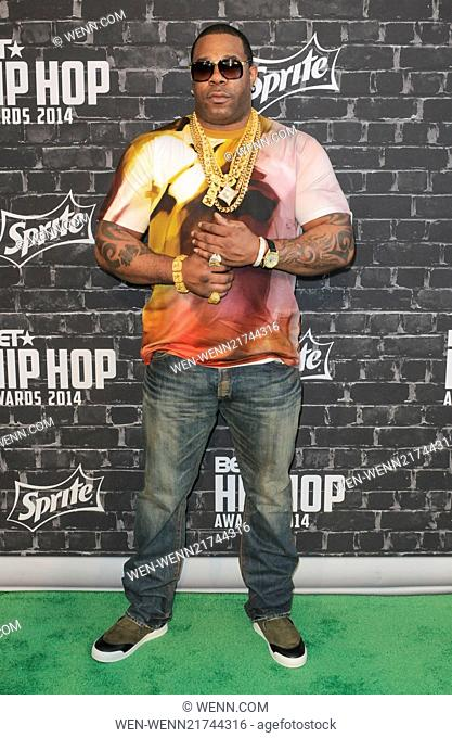 2014 BET Hip Hop Awards presented by Sprite held at The Atlanta Civic Center - Arrivals Featuring: Busta Rhymes Where: Atlanta, Georgia