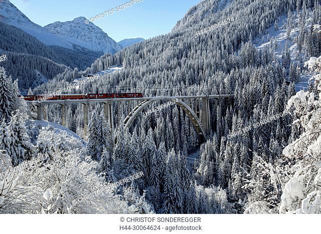 RHB Viadukt bei Langwies im Schanfigg
