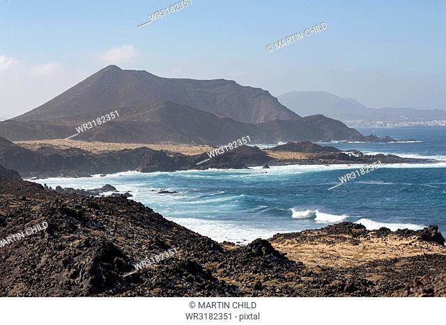 The island of Lobos off the coast of Fuerteventura near Corralejo, Lobos, Canary Islands, Spain, Atlantic, Europe