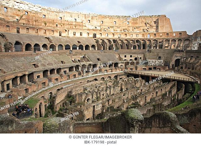 Interior view of the Colosseum, Rom, Italy