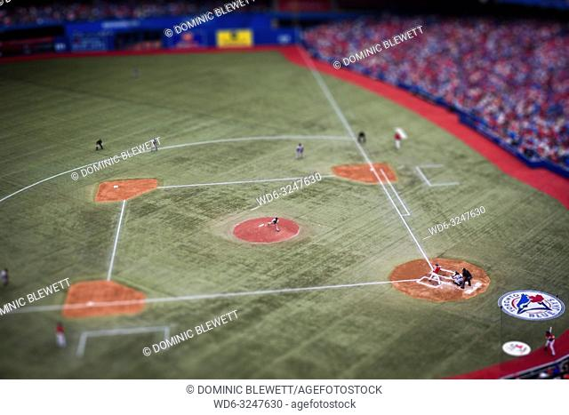 The Toronto Blue Jays play the Detroit Tigers on Canada Day at the Rogers Centre in Toronto, Canada