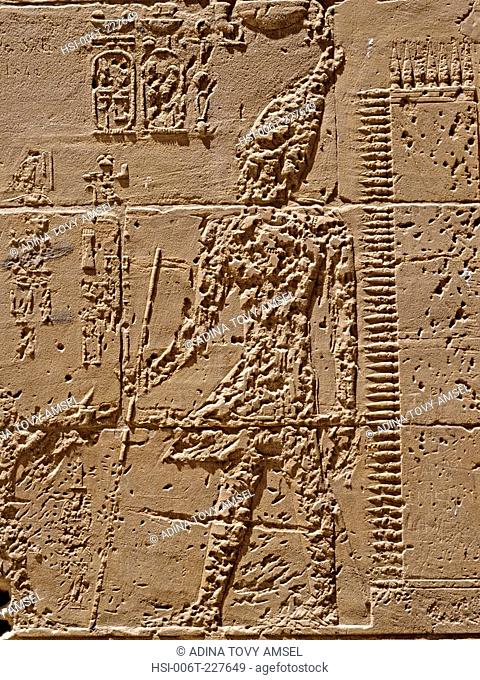 Egypt. Remains of the Temple of Amenhotep III. West Bank of the Nile. Luxor area