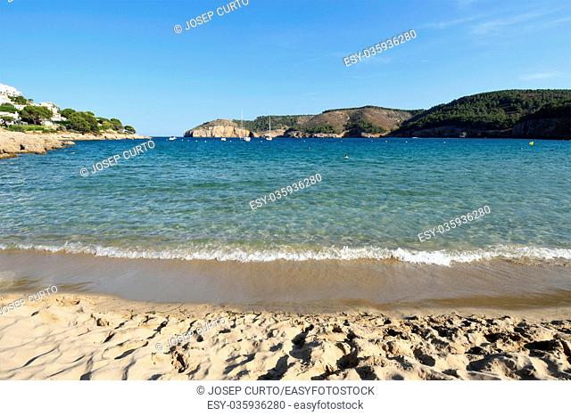 Montgo beach of la Escala and Torroella de Montgri, Costa Brava, Girona province, Catalonia, Spain