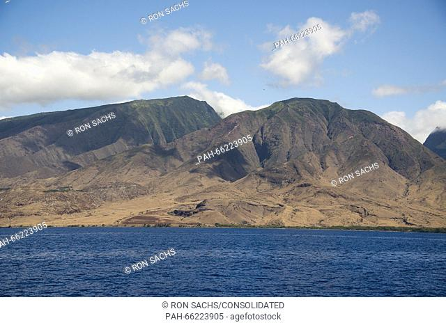 Volcanic rock formations on the island of Maui, Hawaii from the Pacific Ocean on Thursday, February 25, 2016. Credit: Ron Sachs / CNP - NO WIRE SERVICE - |...