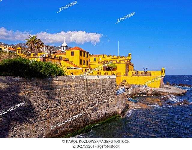 Portugal, Madeira, Funchal, View of the Sao Tiago Fort.