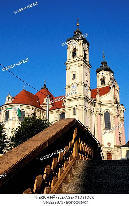 The baroque Basilica of St Alexander and Theodore in Ottobeuren / Bavaria