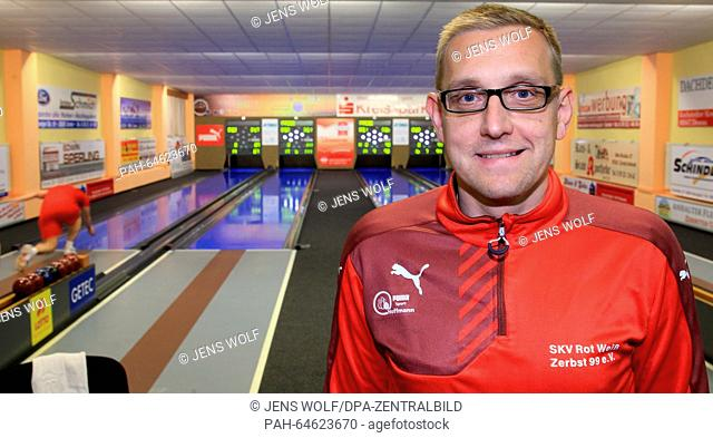 Timo Hoffmann, head coach of the German bowling national team and of bowling club Rot-Weiss Zerbst, poses in Zerbst, Germany, 28 November 2015