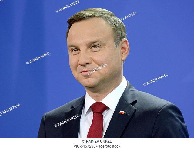 Andrzej DUDA , President of Poland , 17.06.2016 - Berlin, Berlin, Germany, 17/06/2016