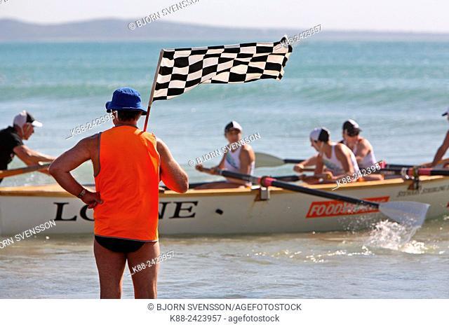 Surf boat races. Surfcoast, Victoria, Australia