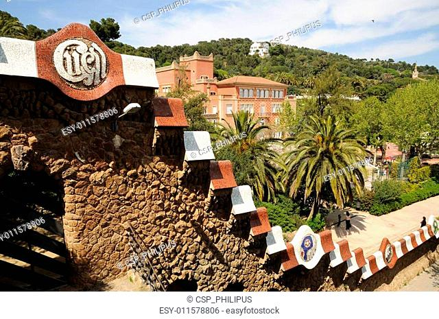Antoni Gaudis Park G�ell in Barcelona, Spain