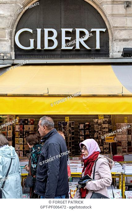 GIBERT BOOKSTORE, SAINT-MICHEL QUARTER, 6TH ARRONDISSEMENT, PARIS (75), FRANCE
