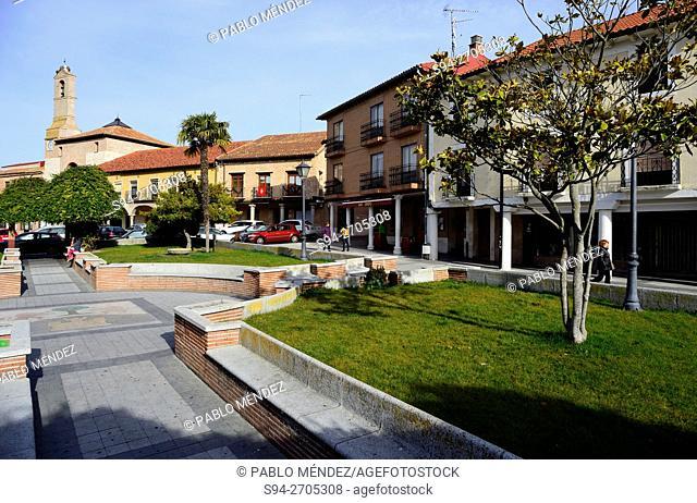 Main square of Olmedo, Valladolid, Spain