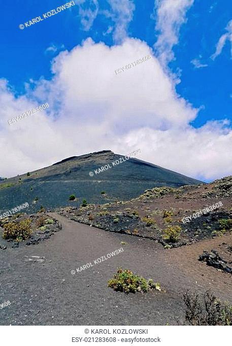 Volcano San Antonio in Fuencaliente on La Palma