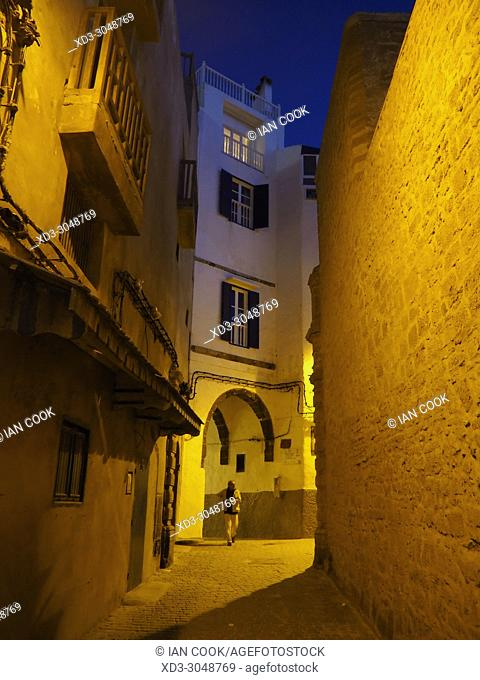 the Medina at night, Essaouira, Morocco