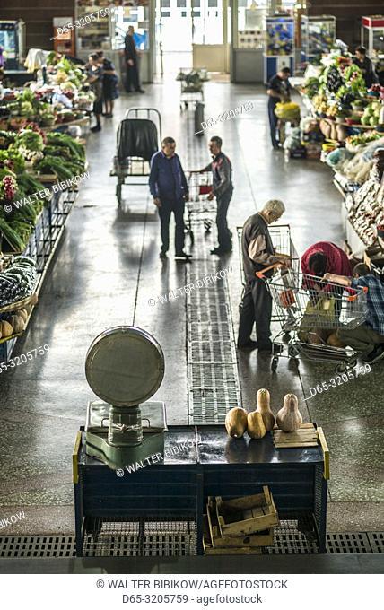 Armenia, Yerevan, G. U. M. Market, food market hall, NR