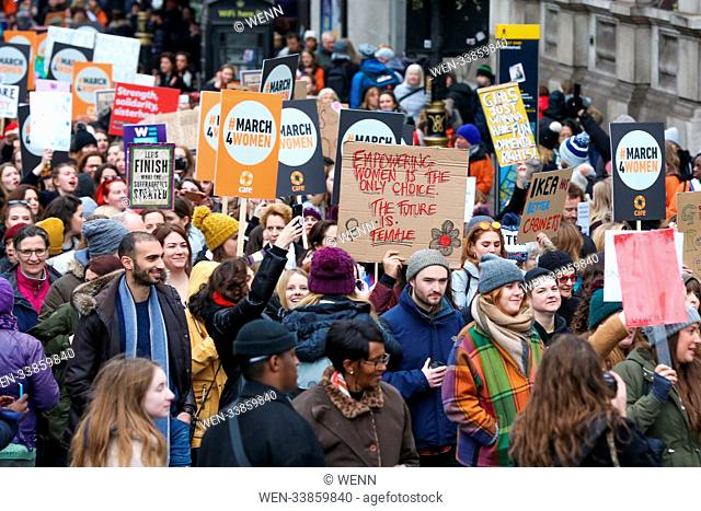 Celebrity, politicians, champions of gender equality and feminist activists joins hundreds of people for March4Women, event organised by organised by CARE...