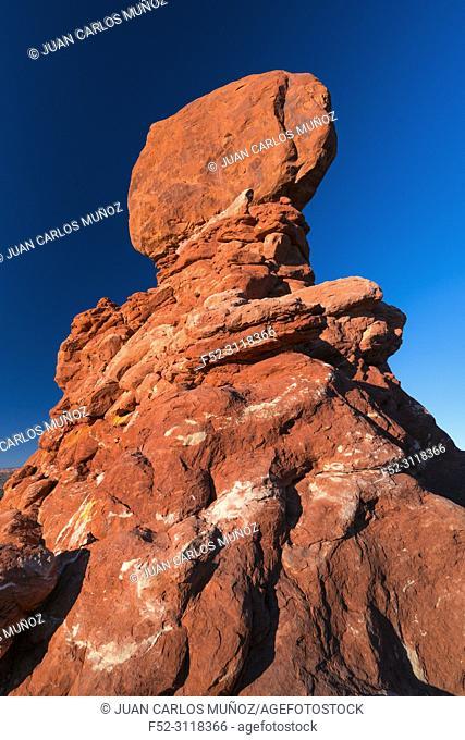 Balanced Rock, Arches National Park, Colorado Plateau, Utah, Grand County, Usa, America