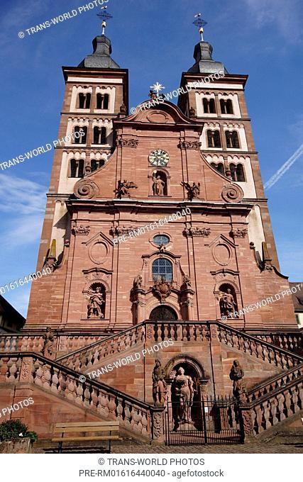 Minster, Kloster Amorbach Abbey, Amorbach, Miltenberg district, Lower Franconia, Bavaria, Germany / Klosterkirche, Kloster Amorbach, Amorbach