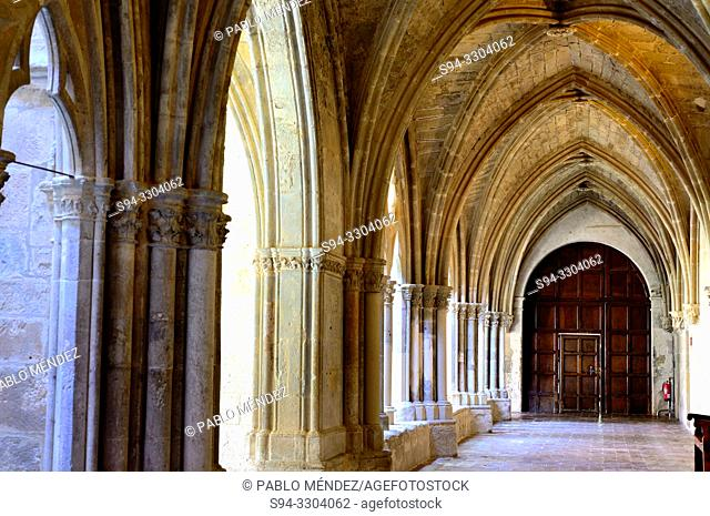 Cloisters of the Monastery of La Veruela, Vera del Moncayo, Zaragoza, Spain. Cistercian abbey