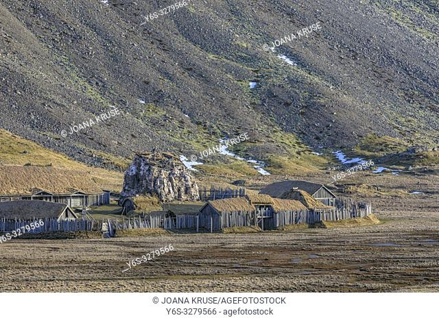 viking village, Stokksnes, Hornafjordur, Hofn, South Iceland, Iceland, Europe