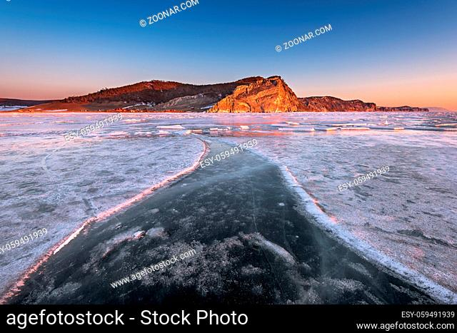 Bay Uzur in the Morning, Olkhon Island, Lake Baikal, Russia