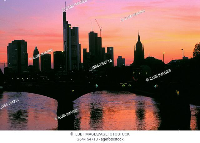 Main river. Hessen . Frankfurt. Germany