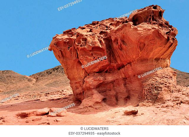 Geological rock formations in Timna Park, Israel