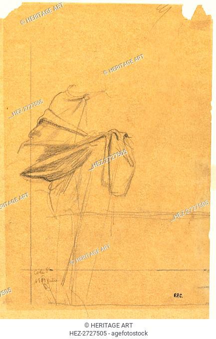 Drapery Study, second half 1800s. Creator: Pierre Puvis de Chavannes (French, 1824-1898)