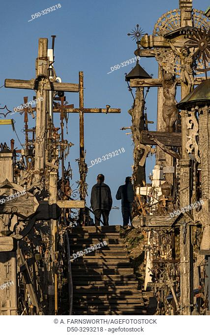 Siauliai, Lithuania The Hill of Crosses, or, KryžiŠ³ kalnas, a pilgrimage site for Catholics and is a collection of 100, 000 crosses