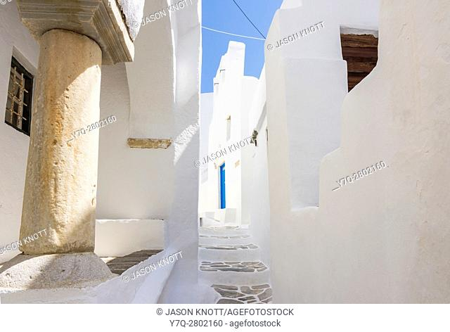 Old Medieval Kastro on the island of Sifnos, Greece