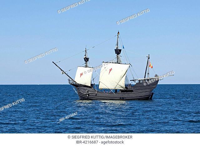 Sailboat, cog, Hanse Sail, Rostock, Mecklenburg-Western Pomerania, Germany