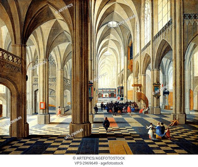 Peter Neeffs - . Interior of Antwerp Cathedral. . 17th century
